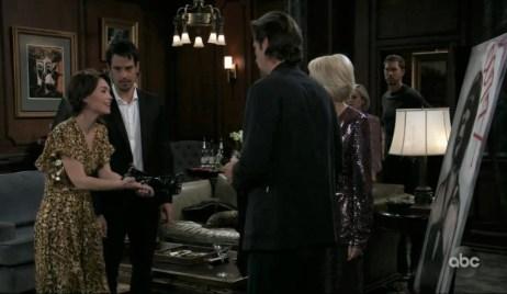 Liz, Nikolas, Ava, and Franco argue at Wyndemere General Hospital