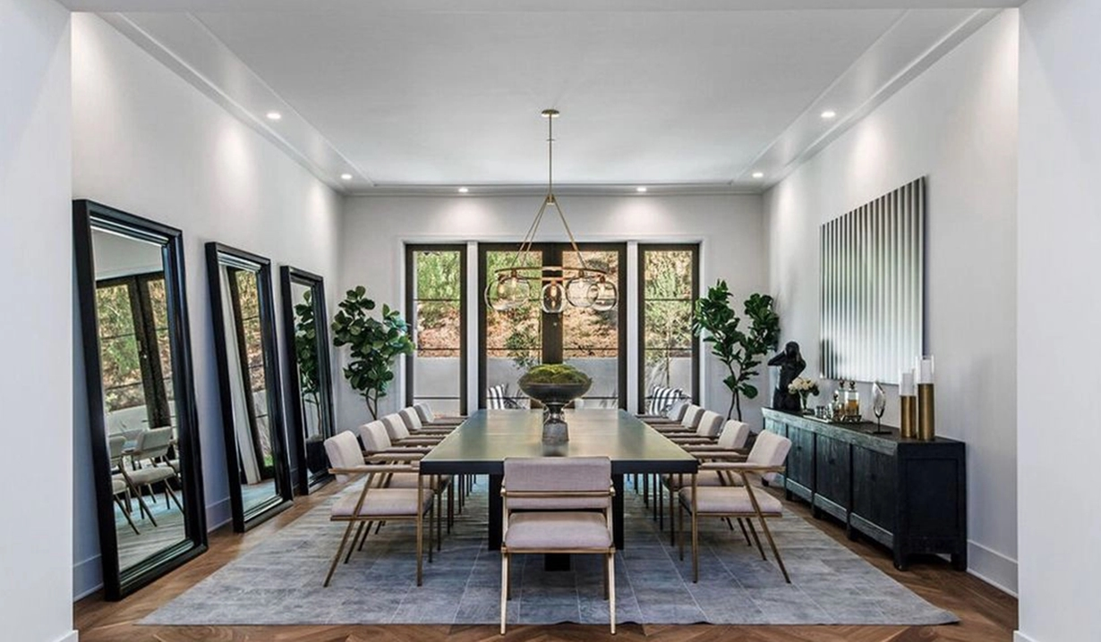 Lori Loughlin dining room Hidden Hills