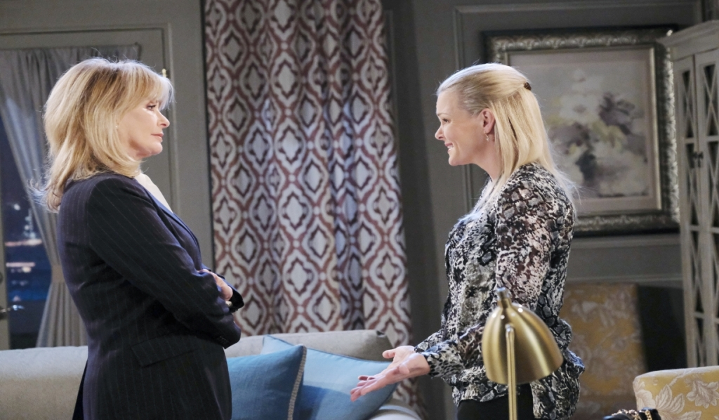At home, Marlena and Belle discuss Claire Days of our Lives
