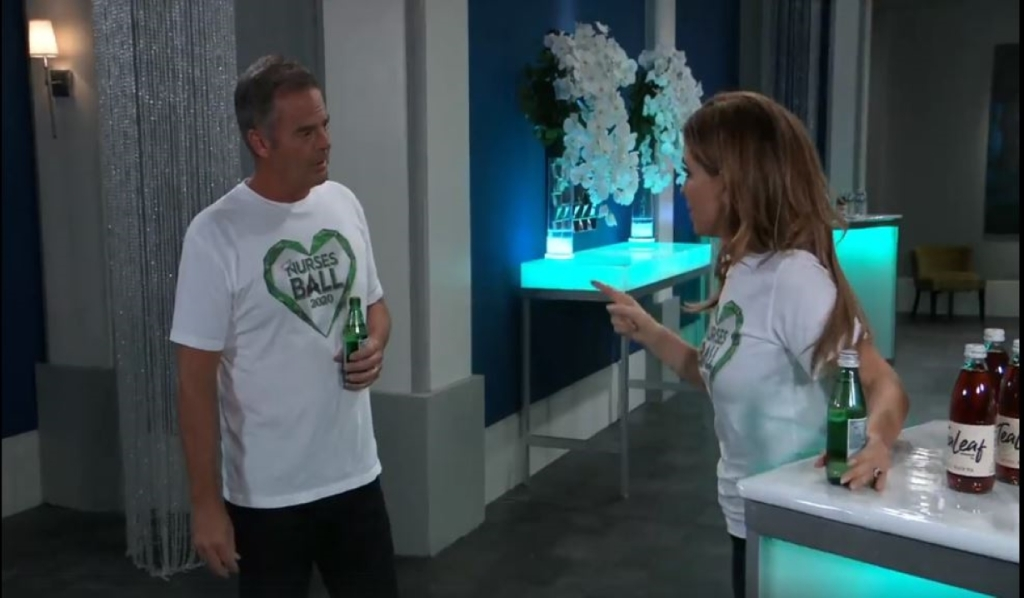 Olivia tells Ned he's scaring her at the Nurses Ball General Hospital