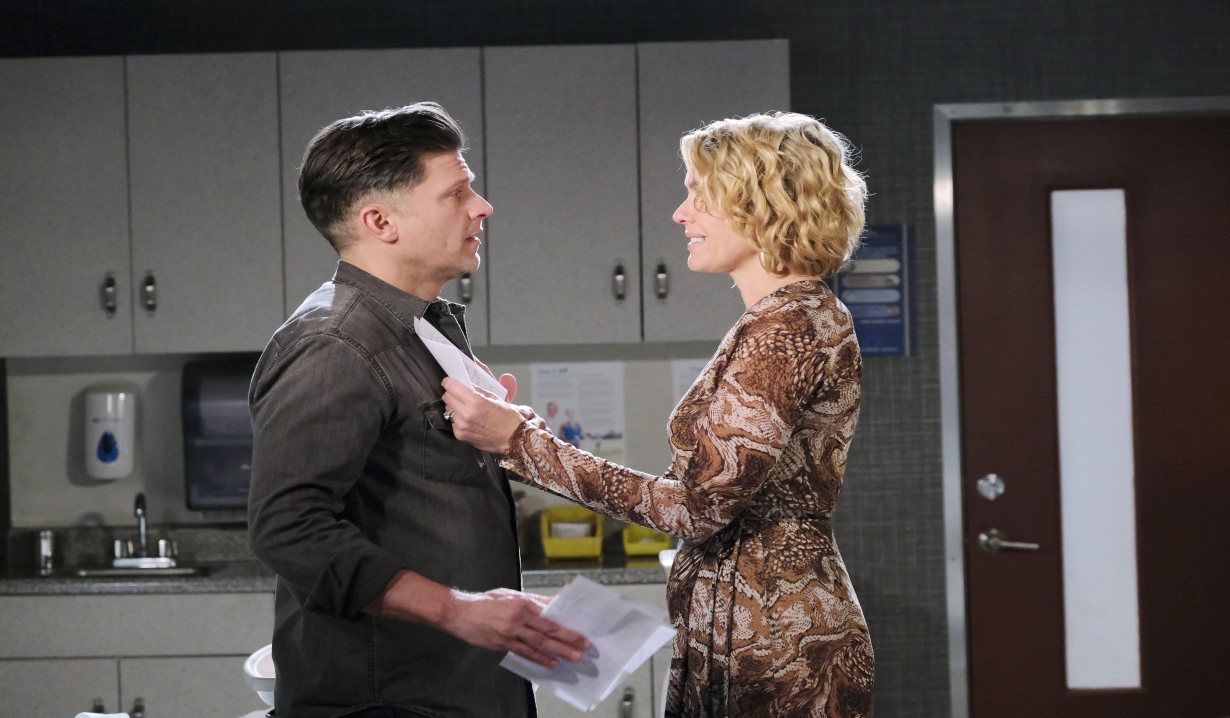 Eric and Nicole reads Allie's letter at hospital Days of our Lives