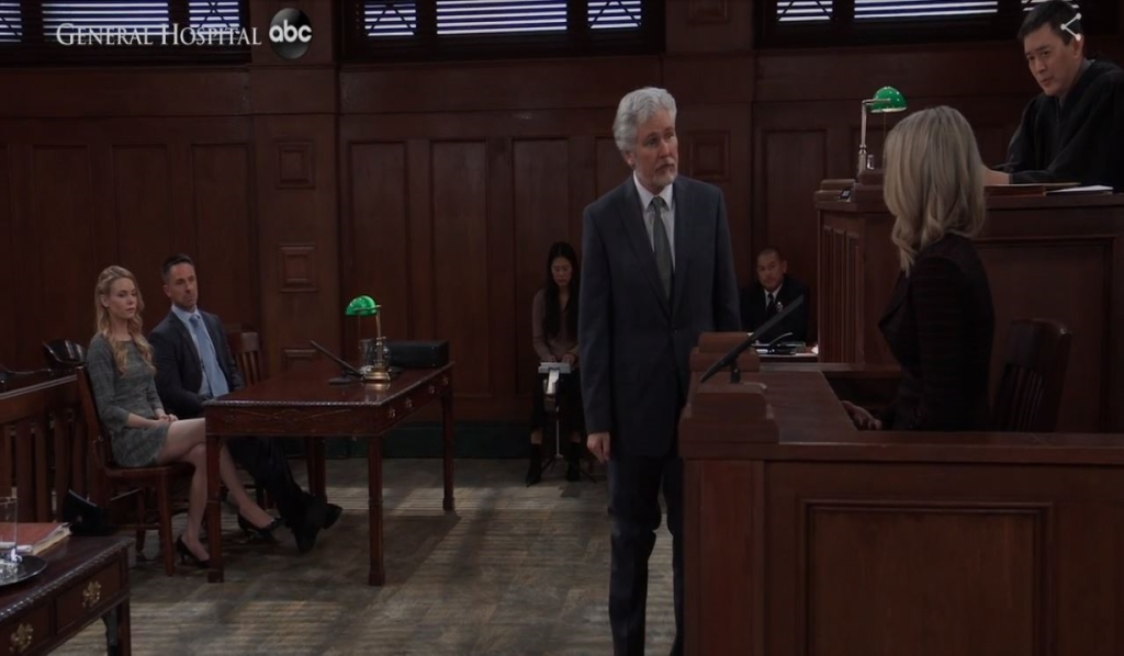 Martin questions Nina in court General Hospital