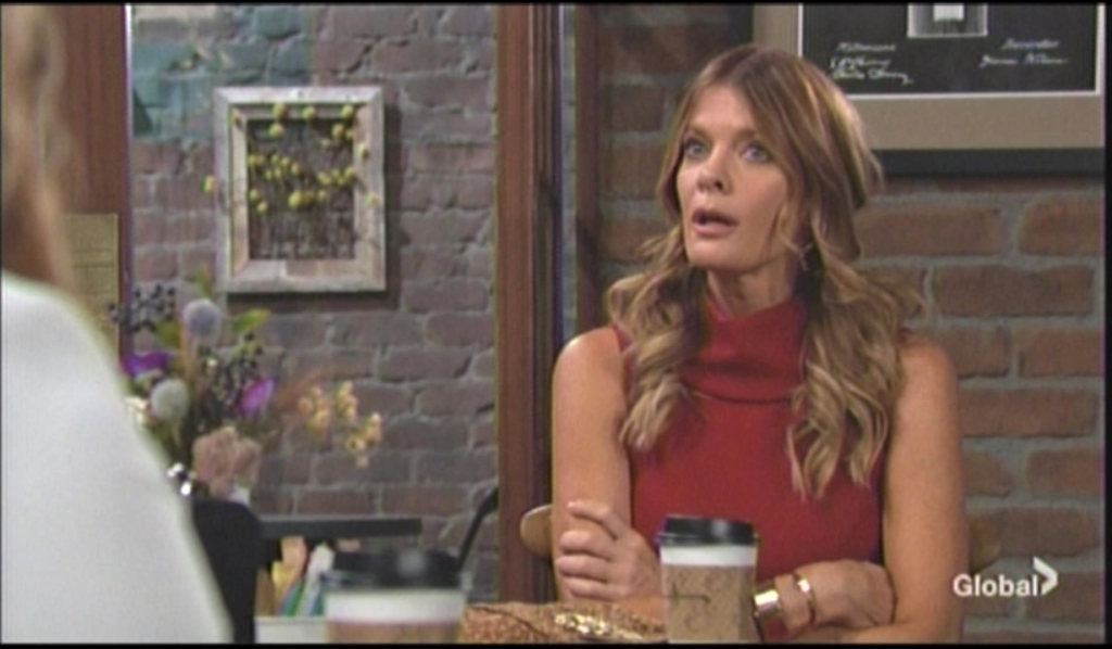 Phyllis tells Summer she is with Nick at Crimson Lights Young and Restless
