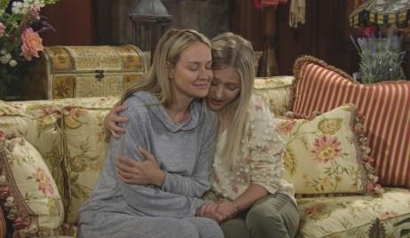 Sharon, Faith embrace Y&R