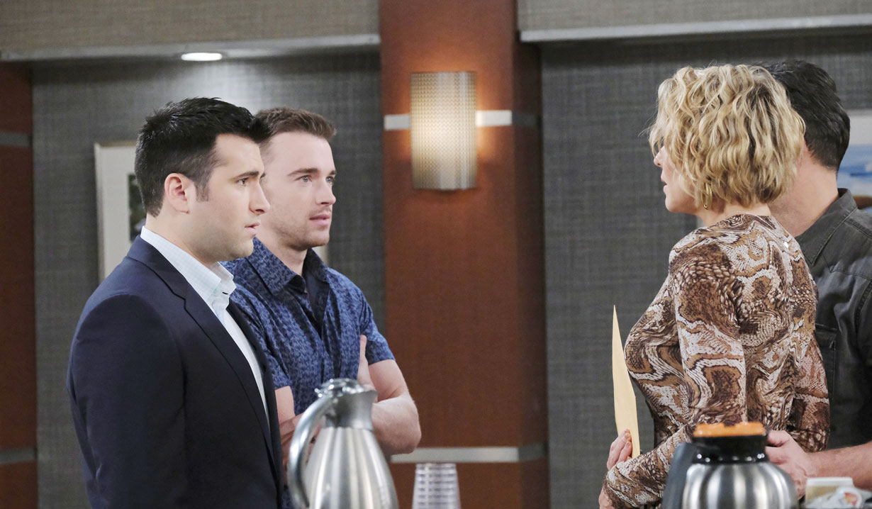 Nicole and Eric give Will and sonny News on Days of our Lives