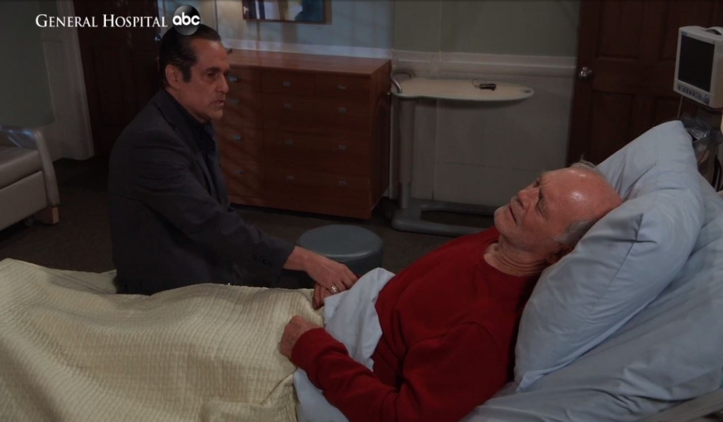 Sonny visits Mike at Turning Woods General Hospital