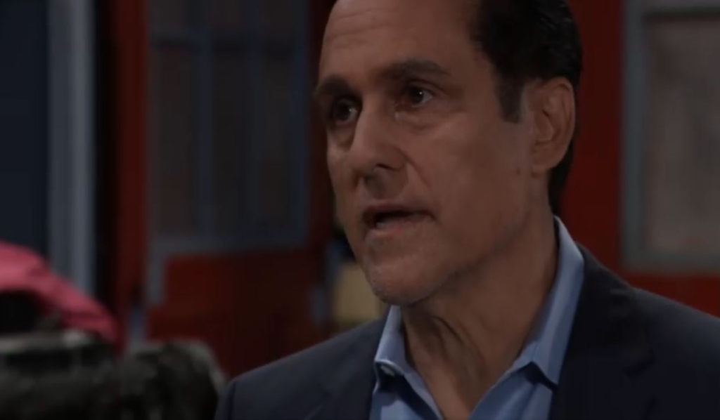 Sonny talks to Brando about Mike at the garage General Hospital