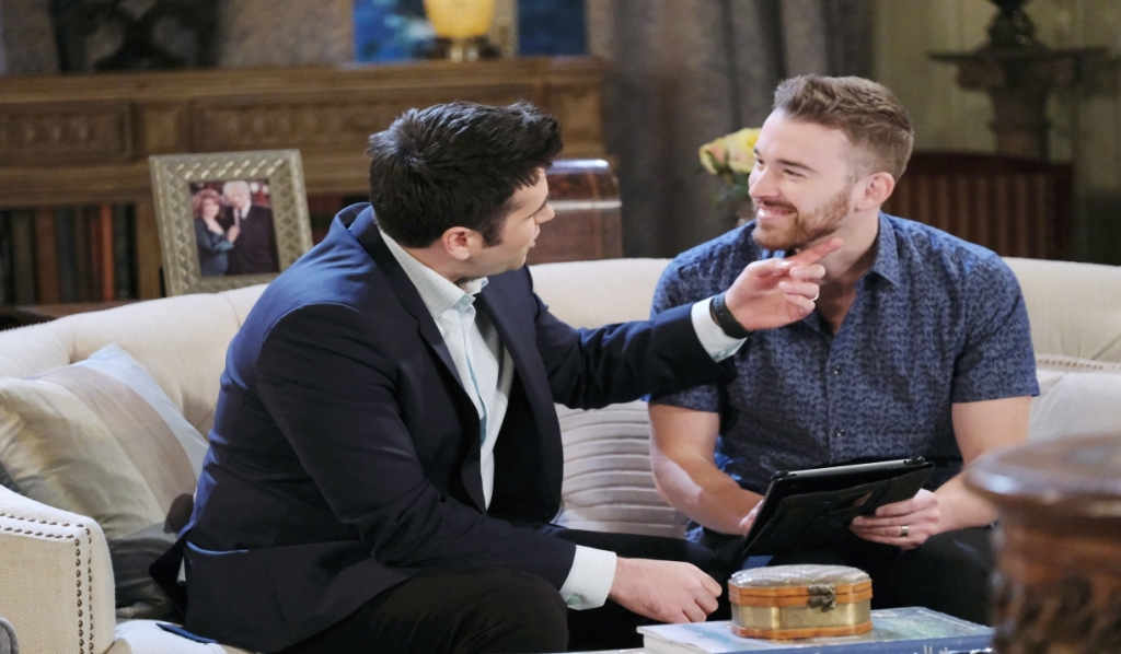 Sonny and Will talk over their problems at Kiriakis mansion Days of our Lives