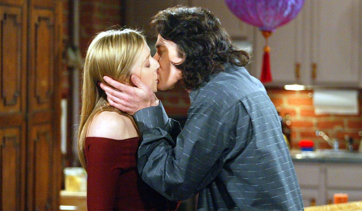 "Ronn Moss and Jennifer Finnigan ""The Bold and the Beautiful"" ridge bridget kiss am"
