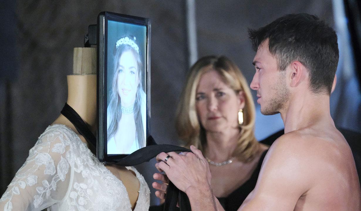 Ben strangles the Ciara mannequin