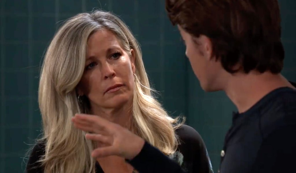 Carly and Michael discuss Nelle on GH