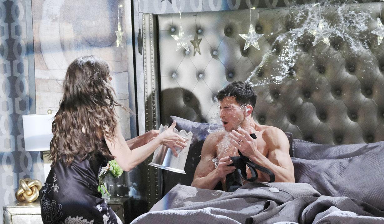 Ciara dumps water on Ben on Days