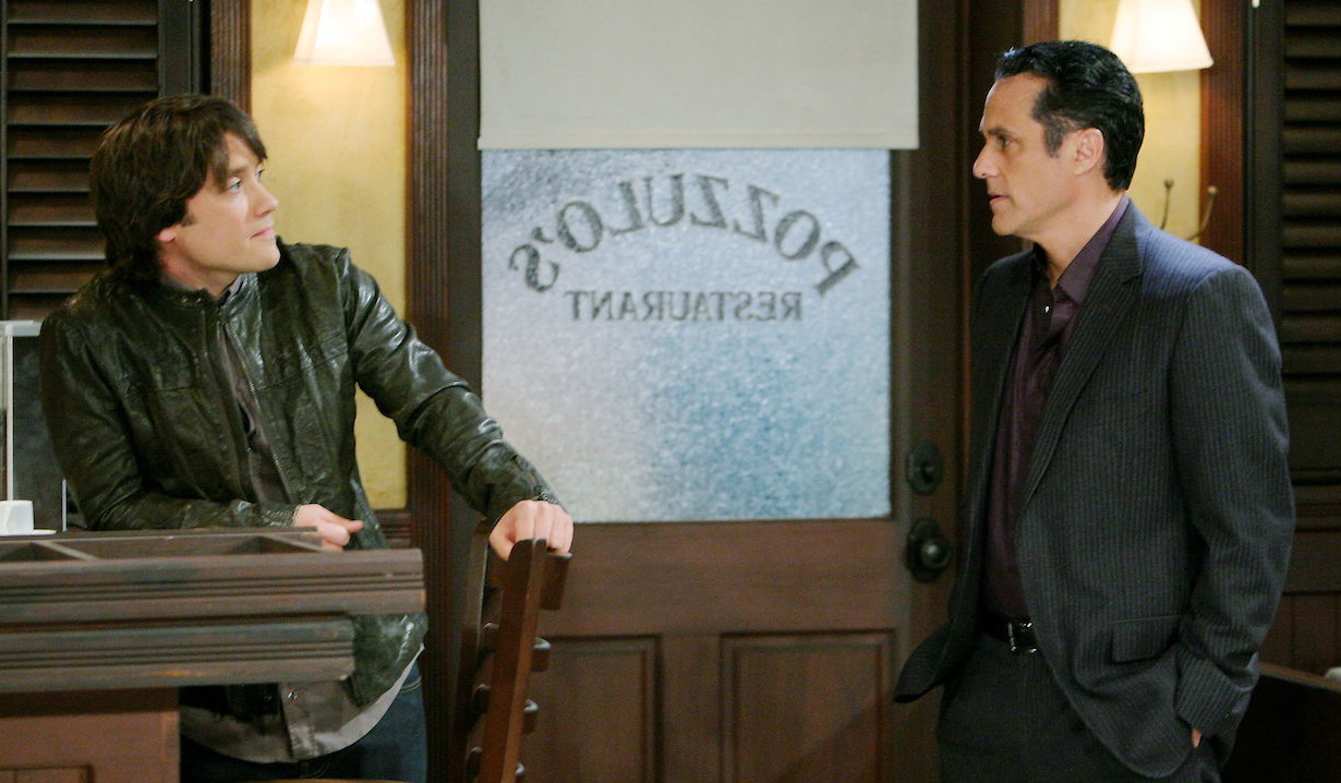 Dante Falconeri met his father Sonny Corinthos while undercover