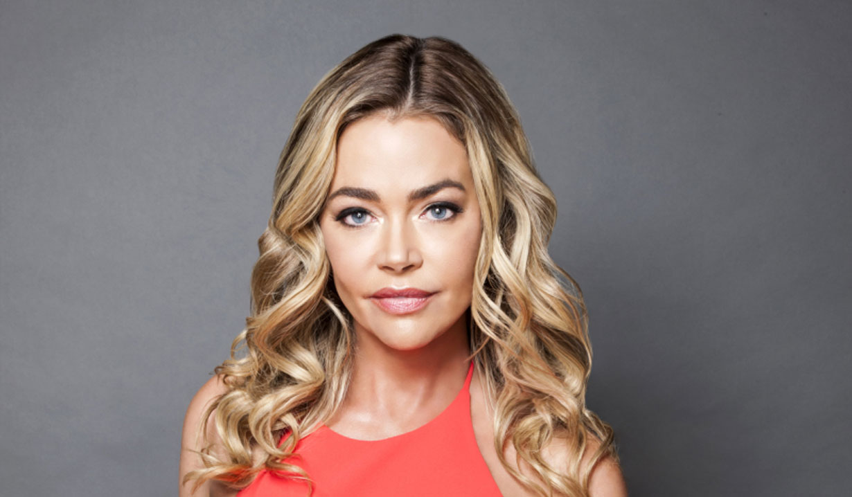 denise richards on set of series glow and darkness B&B