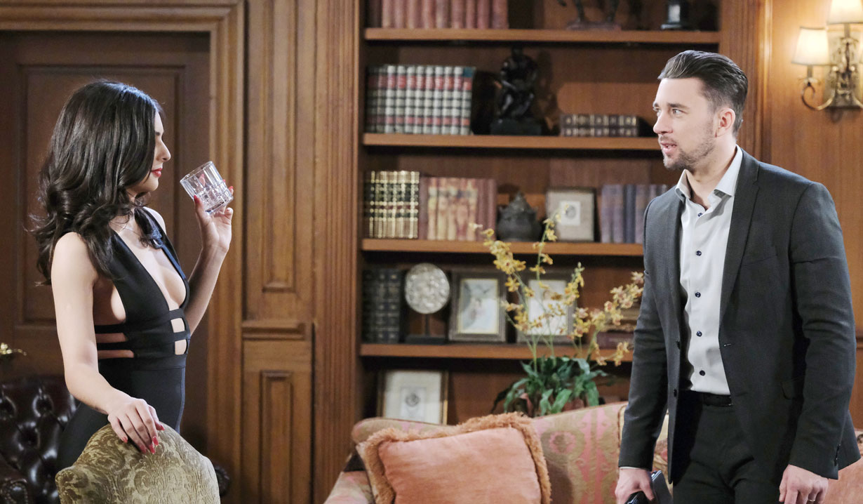 Chad and Gabi bicker on Days of our Lives