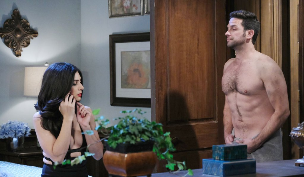 Gabi gets an eyeful of Jake on Days of our Lives