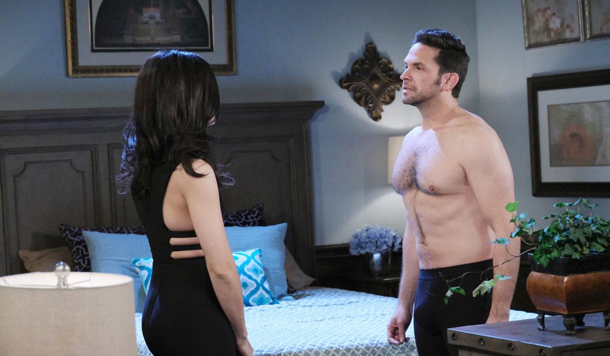 Jake in underwear with Gabi on Days