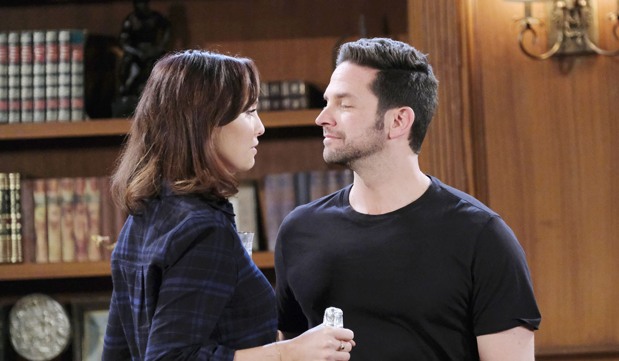 Gwen and Jake at the mansion on Days of our Lives