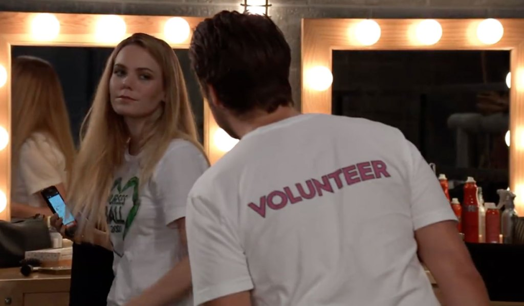 Nelle is caught at the ball on GH
