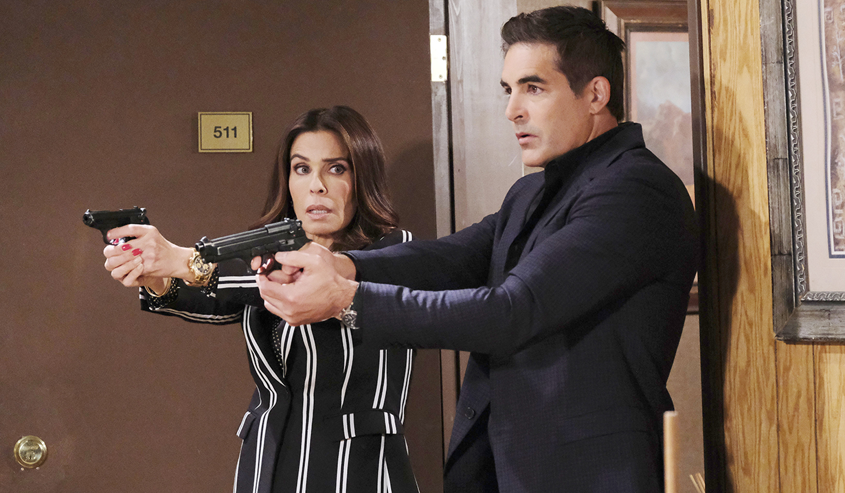 rafe and hope brandish guns days of our lives