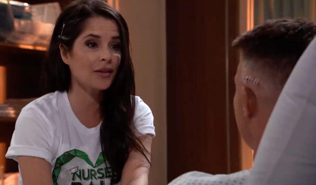 Sam talks with Jason at the hospital on GH