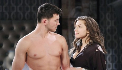 Shirtless Ben and Ciara on Days