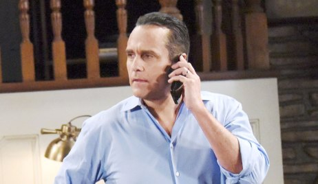 sonny receives a call about mike GH