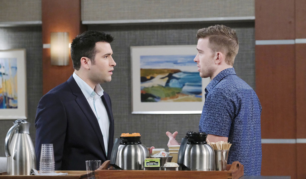 Will and Sonny argue on Days of our Lives