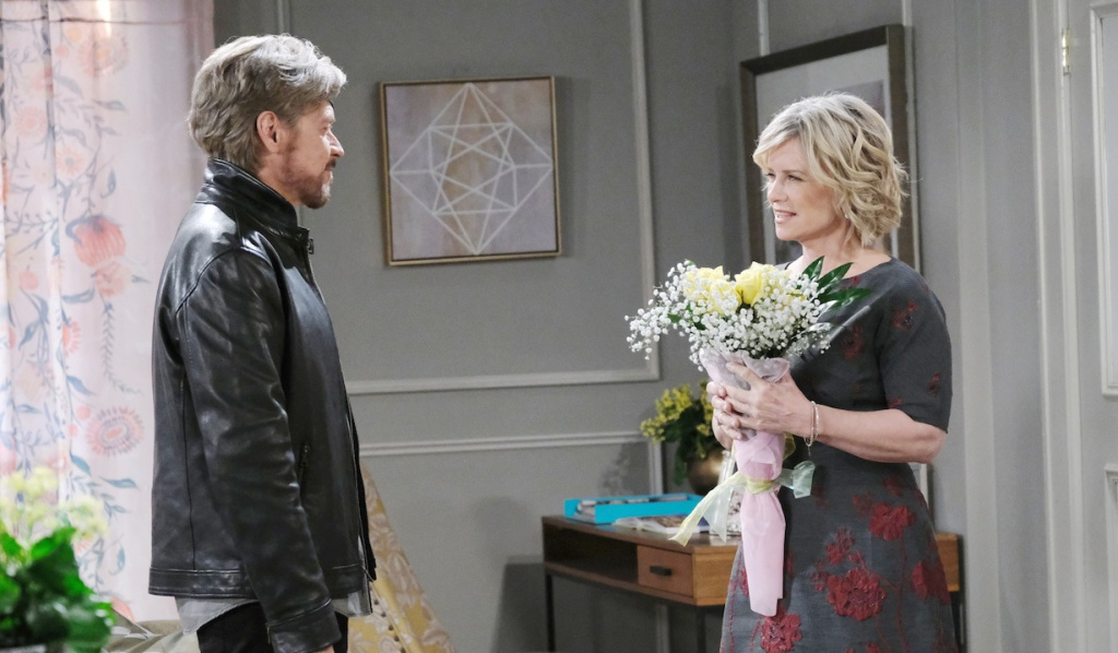 Steve brings Kayla flowers on Days of our Lives