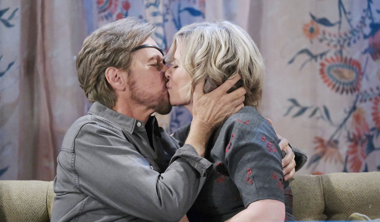 Steve and Kayla share a kiss on Days of our Lives