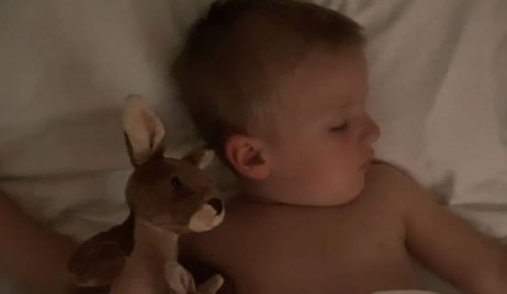 baby wiley scene taped from home by mom GH