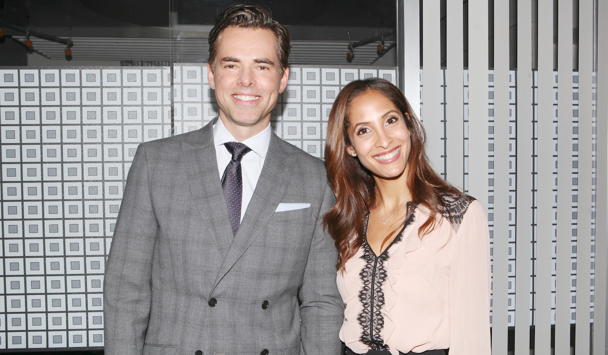 """Christel Khalil, Jason Thompson """"The Young and the Restless"""" hw lily billy shoot"""