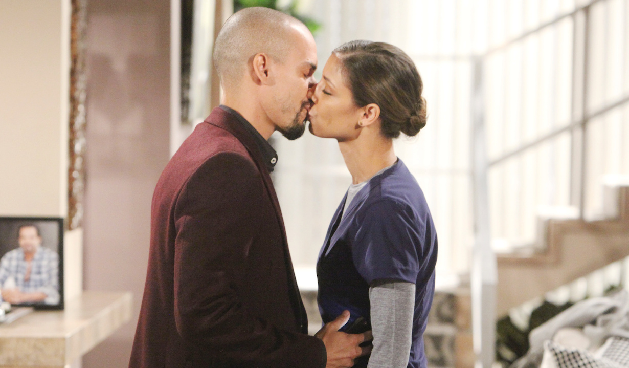 "Brytini Sarpy, Bryton James ""The Young and the Restless"" devon elena kiss"