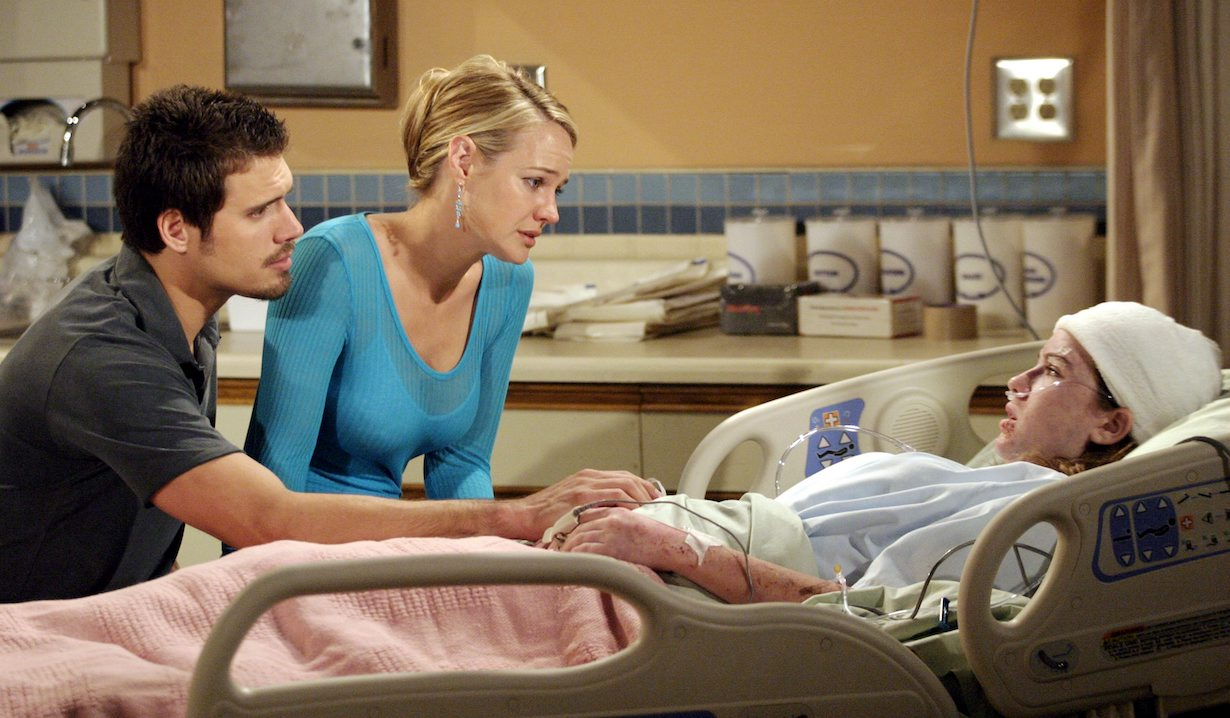 "Camryn Grimes, Sharon Case, Joshua Morrow ""The Young and the Restless"" cassie death brian lowe"