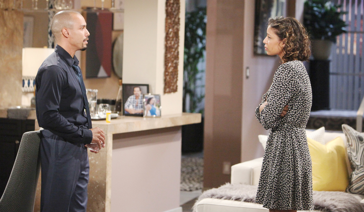 "Brytini Sarpy, Bryton James ""The Young and the Restless"" devon elena argue hw"