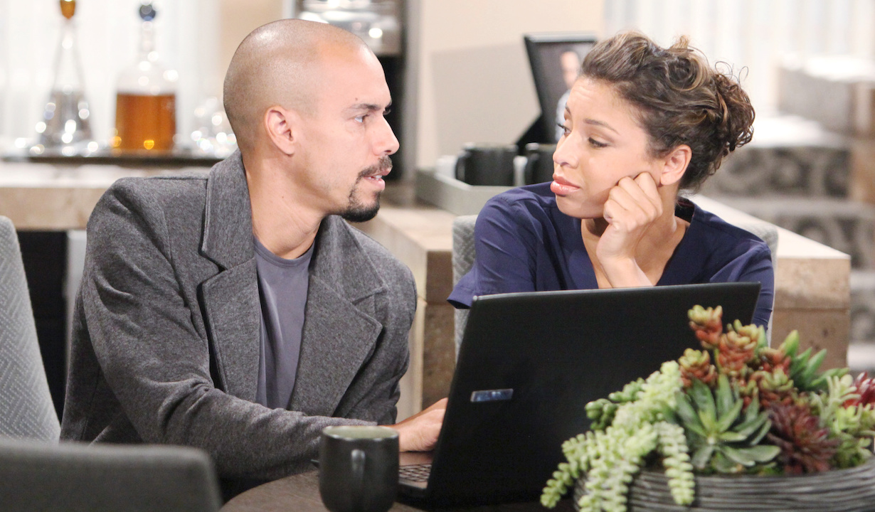 "Brytini Sarpy, Bryton James""The Young and the Restless"" devon elena hw"