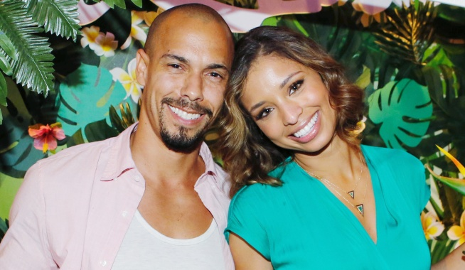 "Brytini Sarpy, Bryton James ""The Young and the Restless"" hw"