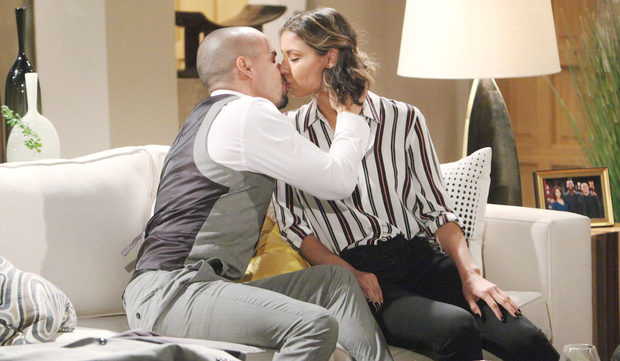 "Brytini Sarpy, Bryton James ""The Young and the Restless"" devon elena first kiss hw"