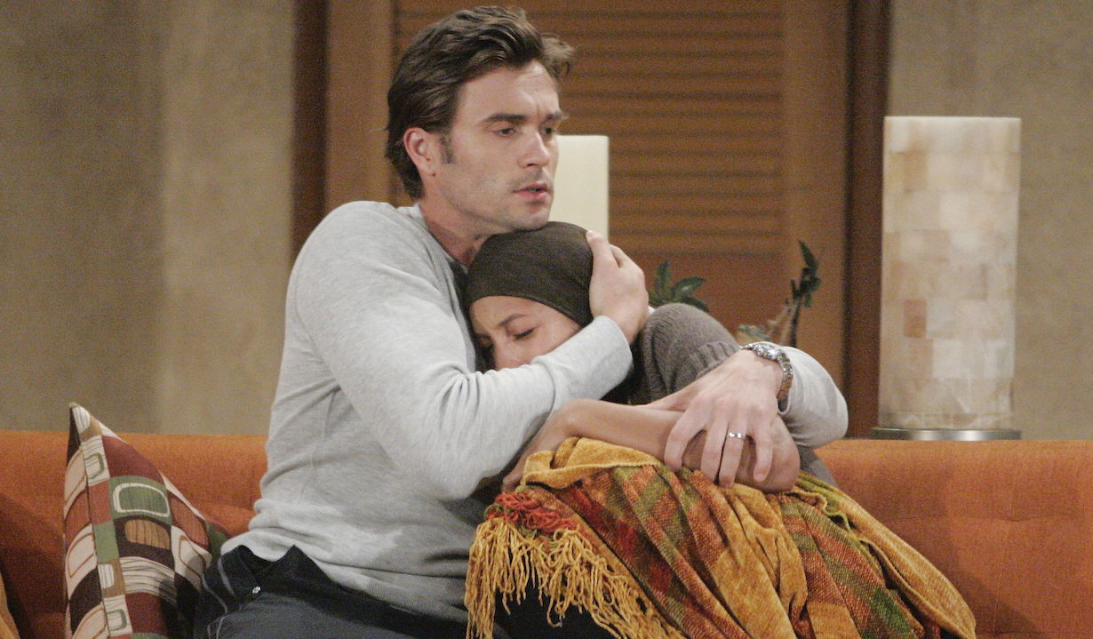 "Daniel Goddard, Christel Khalil ""The Young and the Restless"" lily cancer ss"