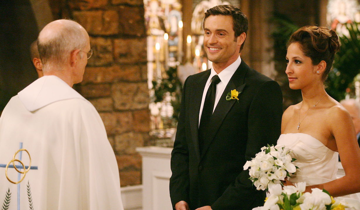"Christel Khalil, Daniel Goddard ""The Young and the Restless"" lily cane wedding am"