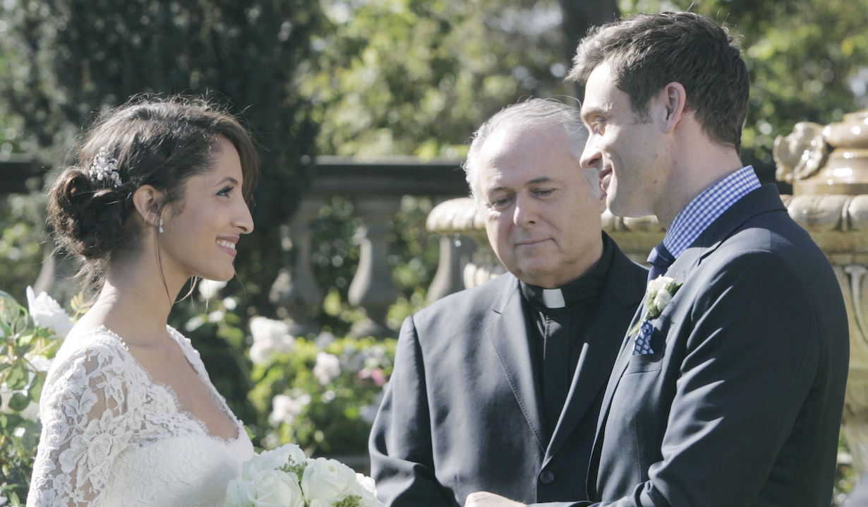 """Daniel Goddard, Christel Khalil """"The Young and the Restless"""" lily cane second wedding ss"""