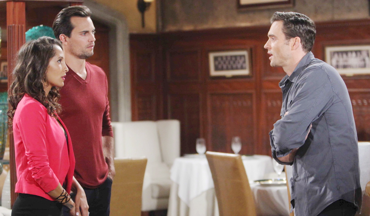 "Christel Khalil, Daniel Goddard, Scott Elrod ""The Young and the Restless"" hw"