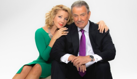 Melody Thomas Scott and Eric Braeden yr cbs