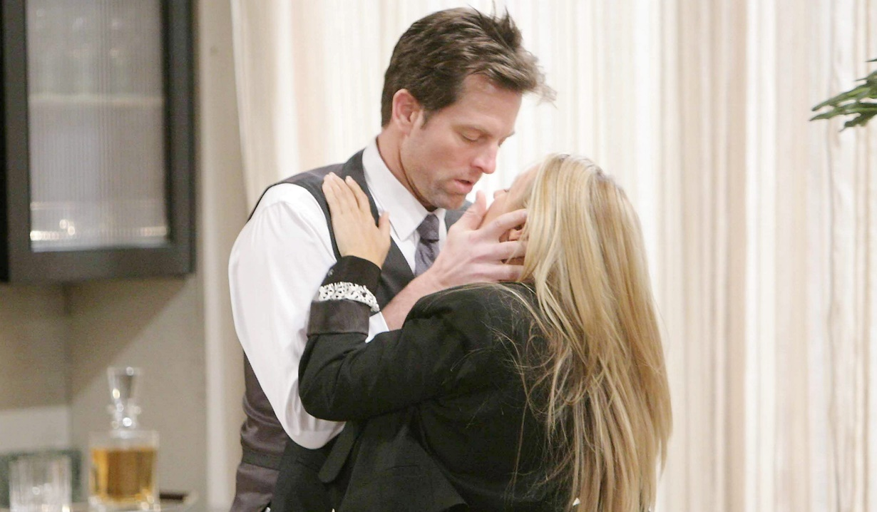 Sharon, Adam after Chelsea passion Y&R