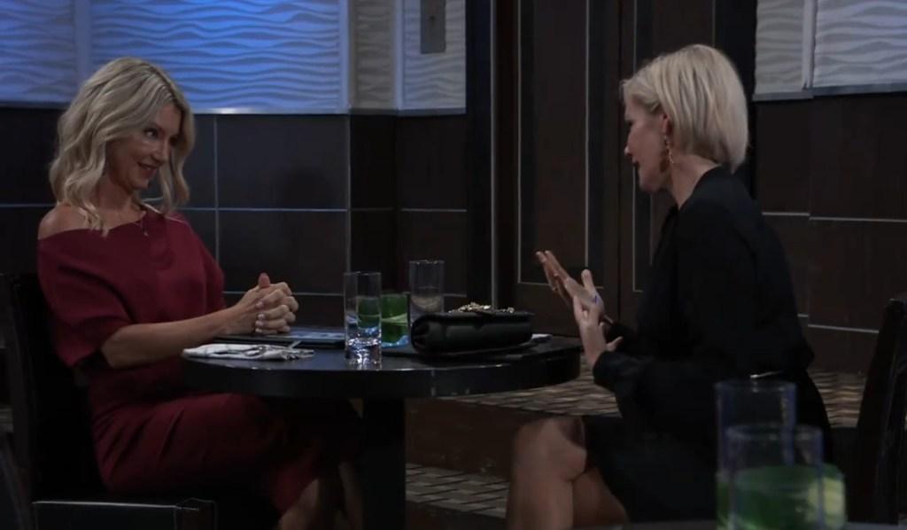 Ava and Nina talk Nikolas at Metro Court General Hospital