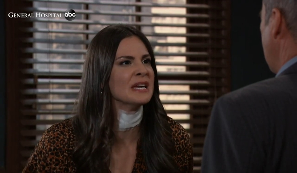 Brook Lynn argues with Ned at Chase's General Hospital