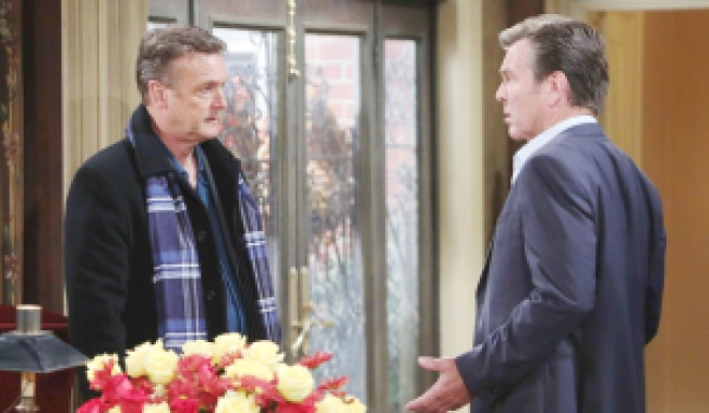 "Doug Davidson, Peter Bergman ""The Young and the Restless"" Set CBS television City Los Angeles 10/18/17 © Howard Wise/jpistudios.com 310-657-9661 Episode # 11314 U.S. Airdate 11/28/17"