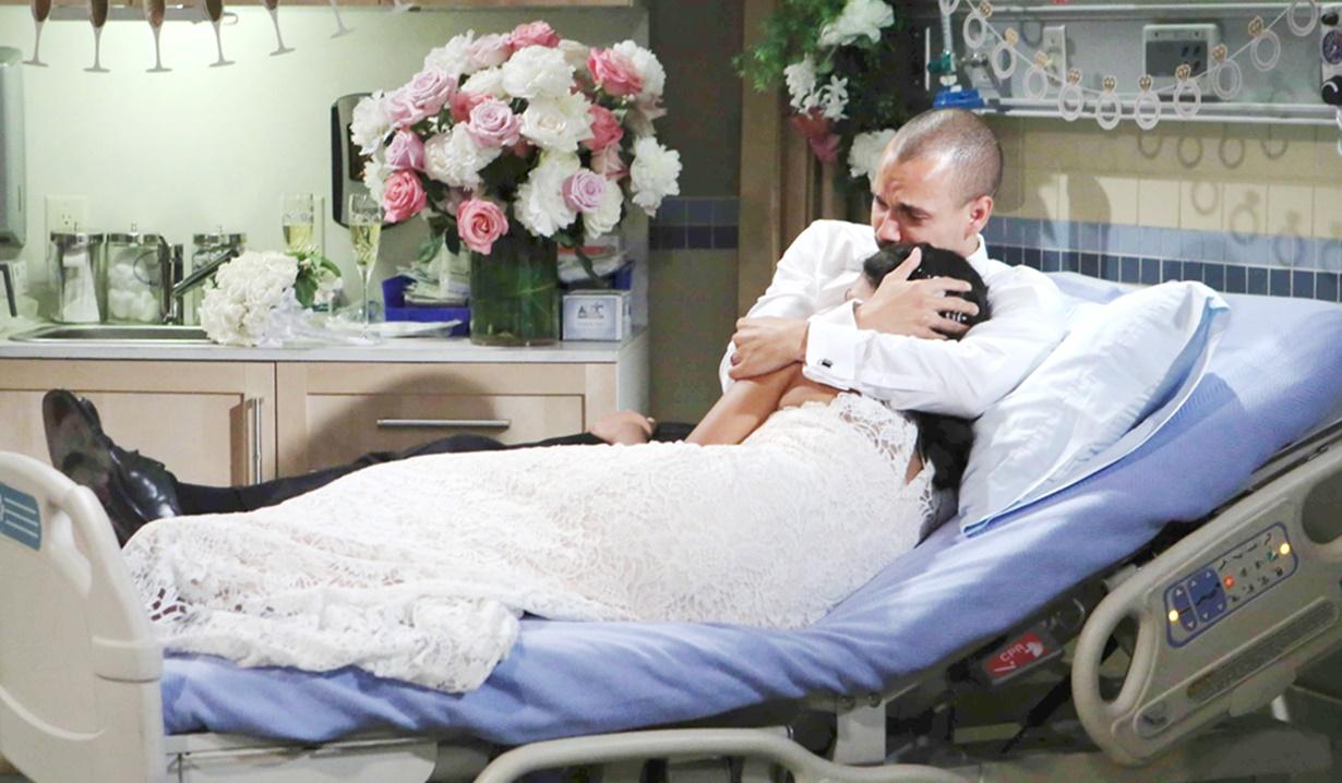 Devon, Hilary wedding hospital Y&R