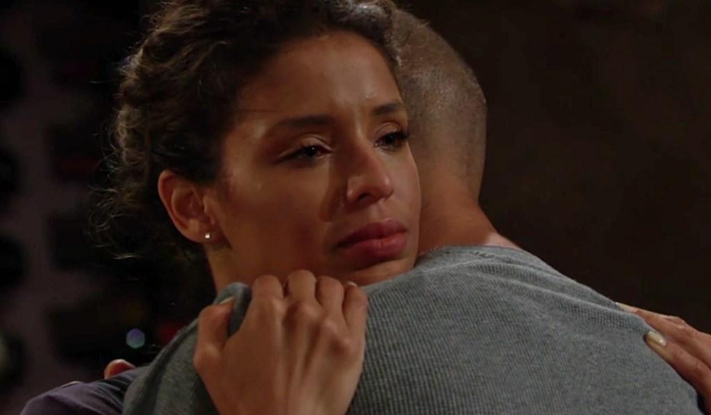 Elena worried hug Devon Y&R