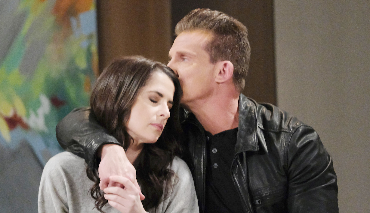 General Hospital Sam Jason forehead kiss